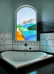 Ensuite Glass Panel, custom tiling and wall painting